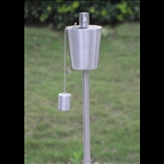 Garden Torch - Stainless Steel Tapered Tank