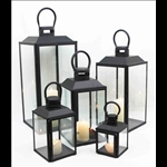 Metal Candle Lanterns - Set of 5