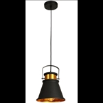 Pendant Light - Iron/Black and Gold