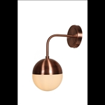 Wall Light (Down) - Iron and Milky Glass/Rose Gold